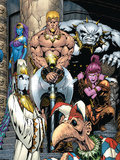 Exiles No.55 Cover: Mimic, Morph, Beak, Sasquatch, Blink, Namora and Exiles Prints by James Calafiore