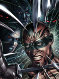 X-Force No.8 Cover: X-23 and Vanisher Plastic Sign by Mike Choi