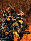 X-Factor No.26 Cover: Wolverine and X-23 Plastic Sign by David Finch