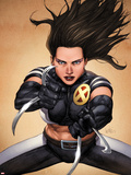 X-23 No.4 Cover: X-23 Posing Plastic Sign by Leinil Francis Yu