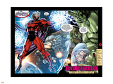 X-Men No.1: 20th Anniversary Edition: Magneto Flying in Space with Energy Plastic Sign by Jim Lee