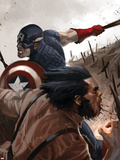 Wolverine: Origins No.20 Cover: Wolverine and Captain America Plastic Sign