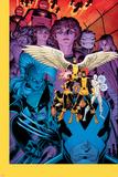 X-Men: Battle of the Atom #1 Cover: Jean, Iceman, Beast, Angel, Wolverine, Storm, Hayes, Molly Znaki plastikowe autor Arthur Adams