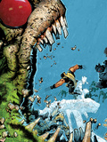 Wolverine & The X-Men No.2 Cover: Wolverine, Iceman, and Hulk Fighting Plastskylt av Chris Bachalo