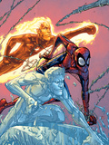 X-Men: First Class No.16 Cover: Iceman, Human Torch and Spider-Man Prints by Patrick Scherberger