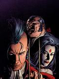 X-Men: Legacy No.217 Cover: Shaw, Sebastian, Lady Sinister and Daken Plastikskilte af Mike Deodato