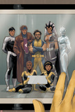 Astonishing X-Men 68 Cover: Wolverine, Gambit, Warbird, Iceman, Northstar, Reyes, Cecilia, Karma Plastic Sign by Phil Noto