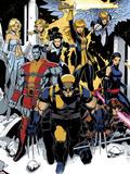 Chris Bachalo - X-Men: Curse of The Mutants - Storm & Gambit No.1: Wolverine, Colossus, Magik, Psylocke, Northstar Plastové cedule