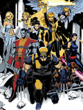 X-Men: Curse of The Mutants - Storm & Gambit No.1: Wolverine, Colossus, Magik, Psylocke, Northstar Plastic Sign by Chris Bachalo