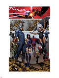 Uncanny X-Men No.4: Cyclops, Storm, Psylocke, Magneto, Hope Summers, Namor, Magik, Colossus, Danger Plastic Sign by Brandon Peterson