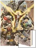 Alpha Flight No.4: Guardian, Marina, Puck, and Shaman Wood Print by Dale Eaglesham