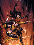 New X-Men No.45 Cover: X-23 and Lady Deathstrike Plastic Sign by David Finch