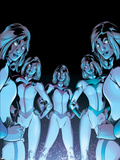 New X-Men No.17 Cover: Stepford Cuckoos Plastic Sign by Aaron Lopresti