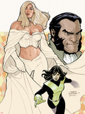 Uncanny X-Men No.529 Cover: Emma Frost, Shadowcat, and Sebastian Shaw Posing Wall Decal by Terry Dodson