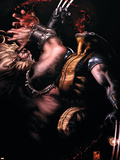 Wolverine No.52 Cover: Wolverine and Sabretooth Plastic Sign by Simone Bianchi