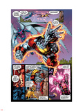 X-Men No.1: 20th Anniversary Edition: Colossus and Archangel Flying Plastic Sign by Jim Lee