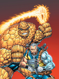 X-Force No.5 Cover: Cable and Thing Plastic Sign by Rob Liefeld