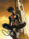 X-Men: Manifest Destiny No.4 Cover: Nightcrawler Veggoverføringsbilde av Humberto Ramos