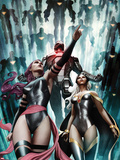 Uncanny X-Force No.19.1 Cover: Sabretooth, Jean Grey, and Wolverine Plastikskilte af Mike Deodato