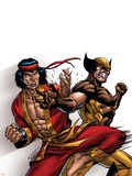 Wolverine: First Class No.9 Cover: Wolverine and Shang-Chi Plastic Sign by Salvador Espin