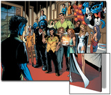 Handbook: X-Men 2005 Group: Nightcrawler, Wolverine, Beast, Emma Frost, Colossus and Storm Posters by Darick Robertson