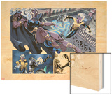 X-Men Forever 2 No.12: Storm and Ro Fighting Wood Print by Rodney Buchemi
