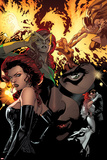 All-New X-Men 5 Cover: Grey, Jean, Cyclops, Black Queen, Marvel Girl, Pryor, Madelyne Plastic Sign by Stuart Immonen