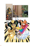 Wolverine And Power Pack No.1 Group: Wolverine, Zero-G, Mass Master, Lightspeed and Energizer Plastic Sign by  Gurihiru