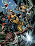 Uncanny X-Men No.493 Group: Wolfsbane, Wolverine, X-23, Warpath, Hepsibah and Caliban Plastic Sign by Billy Tan