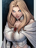 Astonishing X-Men No.43 Cover: Emma Frost Plastic Sign by Arthur Adams