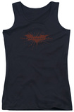 Juniors Tank Top: Dark Knight Rises - Distressed Bat Tank Top