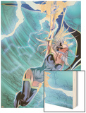 X-Men No.22: Storm Flying, Expelling Lightning and Energy Wood Print by Will Conrad