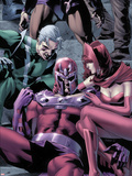 Magnetro: Not a Hero No.2 Cover: Magneto, Scarlet Witch, and Quicksilver Sitting Plastic Sign by Clay Mann