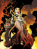 New Mutants Forever No.4 Cover: Magik Posing Znaki plastikowe autor Arthur Adams