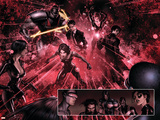X-Force No.22 Group: Domino, Mortis, Senyaka, Bard, Eli, Blink and Wither Plastic Sign by Clayton Crain