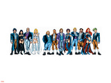 Handbook: X-Men 2005 Group: Emma Frost, Black Queen, Hellfire Club and White Queen Plastic Sign by Greg Shigiel