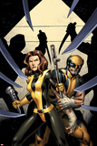 Wolverine 11 Cover: Pryde, Kitty, Wolverine Plastic Sign by Alan Davis
