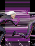 Ultimate Comics X-Men No.4 Cover: Quicksilver Running Plastic Sign by Kaare Andrews