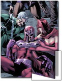Magnetro: Not a Hero No.2 Cover: Magneto, Scarlet Witch, and Quicksilver Sitting Poster by Clay Mann