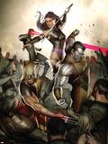 X-Men No.231 Cover: Wolverine, Colossus, Psylocke and Cyclops Plastic Sign by Adi Granov