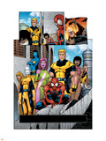 Exiles No.56 Group: Spider-Man, Mimic, Morph, Blink, Namora and Exiles Plastic Sign by James Calafiore