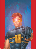 Ultimate X-Men No.1/2 Cover: Cyclops Plastic Sign by Aaron Lopresti