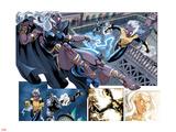 X-Men Forever 2 No.12: Storm and Ro Fighting Plastic Sign by Rodney Buchemi