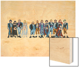 Handbook: X-Men 2005 Group: Emma Frost, Black Queen, Hellfire Club and White Queen Wood Print by Greg Shigiel