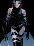 Uncanny X-Force No.3: Psylocke Walking Plastic Sign by Jerome Opena