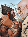 X-Men: Wolverine and Kingpin Fighting Cover Plastic Sign by Renato Guedes