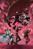 Uncanny X-Force 35 Cover: Psylocke, Archangel, Fantomax, Deathlok, Deadpool, Nightcrawler Plastic Sign by Julian Totino Tedesco