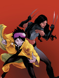 X-23 No.20 Cover: Jubilee and X-23 Plastic Sign by Kalman Andrasofszky