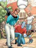 Ultimate X-Men No.88 Group: Summers, Scott, Emma Frost and Colossus Plastic Sign by Yanick Paquette