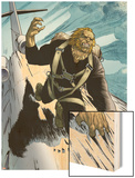 Wolverine No.20: Sabretooth Riding on top of a Plane Wood Print by Renato Guedes
